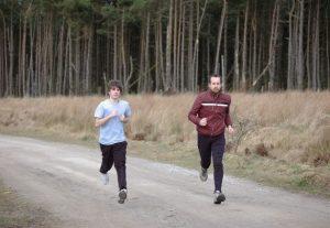 marathoners training