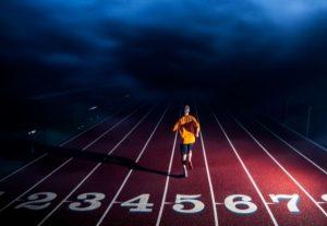 marathon runner showcasing his endurance talent