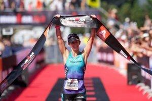150205 Meredith Kessler wins Ironman 70.3 Asia Pacific Championships Auckland New Zealand on 18 Jan 2015 Photo Darryl Carey